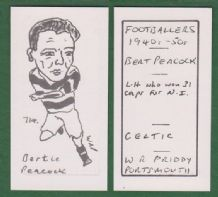 Glasgow Celtic Bertie Peacock Northern Ireland 714